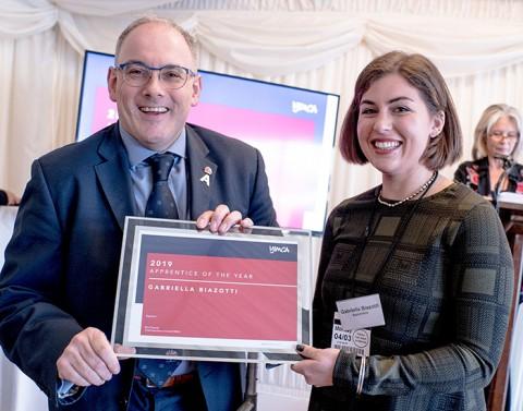 Gabriella Biazotti wins YMCA Apprentice of the Year